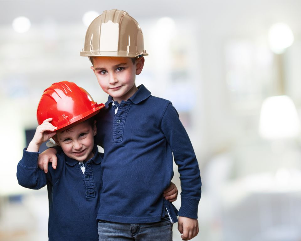 little kids as a architects